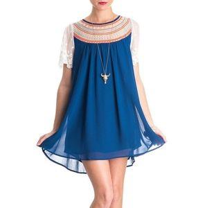 Umgee blue babydoll tunic  M